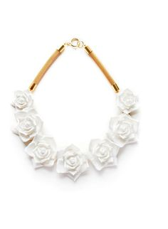 Rose Necklace | White. via The Cools