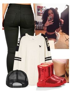 """""""Pregnancy Update-Camilla"""" by og-bambii ❤ liked on Polyvore featuring Victoria's Secret PINK and UGG Australia"""