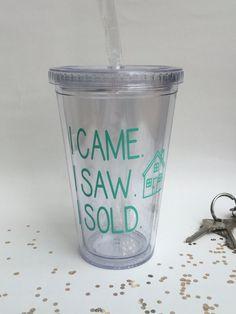 Realtor Tumbler Cup, Realtor Gift, Gift for Realtor, Realtor Closing Gifts, Real Estate Gift, Real Estate Marketing, Real Estate Agent Gift by PrettyLittleVinyls on Etsy https://www.etsy.com/listing/399764659/realtor-tumbler-cup-realtor-gift-gift
