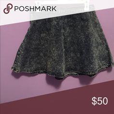Denim skirt Never worn acid wash denim mini skirt Skirts Mini