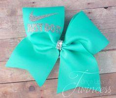 aqua cheer bow