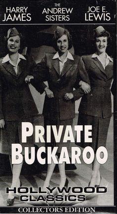 Private Buckaroo 1942 B/W WWII Movie  1994 VHS  Musical  Andrews Sisters Lewis