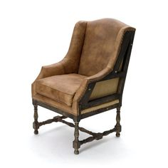 Made to resemble an antique handcrafted armchair, the Hip Vintage Deconstructed Wingback Chair features a cutaway wood frame with burlap accents. Italian Bedroom Furniture, Modern Furniture, Rustic Furniture, Furniture Chairs, Kitchen Furniture, Nice Furniture, Brown Furniture, Cheap Furniture, Discount Furniture