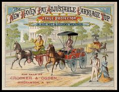 New Haven Patented Adjustable Carriage Top | Sheaff : ephemera
