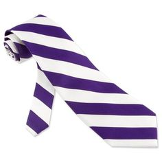 Wouldn't you look fancy with purple and white tie
