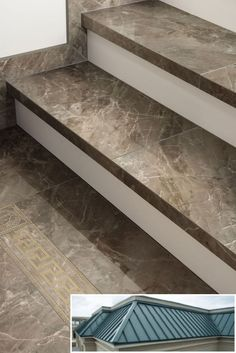 Pics of common commercial metal buildings. : Pics of common commercial metal buildings. Stairs Tiles Design, Tile Stairs, Stair Railing Design, Flooring For Stairs, Home Stairs Design, Stair Decor, Interior Stairs, Floor Design, Metal Stairs