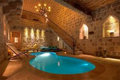 Amazing Small Indoor Pool Design Ideas 22 image is part of Amazing Small Indoor Swimming Pool Design Ideas gallery, you can read and see another amazing image Amazing Small Indoor Swimming Pool Design Ideas on website Indoor Pools, Small Indoor Pool, Lap Pools, Small Pools, Backyard Pools, Pool Landscaping, Outdoor Pool, Indoor Outdoor, Future House
