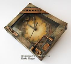 Steampunk Clock. And he has a  steampunk blog (In Spanish but lots of pics) at http://diarment-creations.blogspot.com/