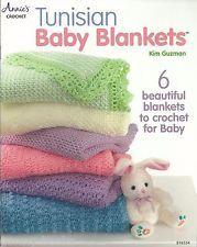 Tunisian Baby Blankets Kim Guzman Crochet Instruction Patterns Annie's Attic NEW
