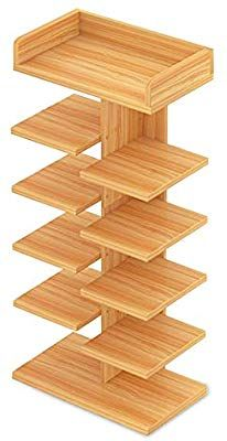 Shoe Rack, FOME 6 Tier Simple Modern Entryway Shoe Storage Tower Rack Shoe Stackable Shelf Shoe Rack Organizer Easy to Assemble Free Standing for Home Entryway Hallway Bathroom Shoe Storage Modern, Entryway Shoe Storage, Shoe Storage Cabinet, Wood Pallet Furniture, Furniture Projects, Wood Pallets, Wood Shoe Rack, Diy Shoe Rack, Stackable Shelves