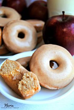 These easy baked gluten-free apple cinnamon donuts with maple cinnamon glaze will be your family's favorite fall breakfast treat.Naturally dairy-free too.