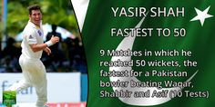 Yasir Shah becomes fastest Pakistan bowler to take 50 Test wickets  #cricket #SLvsPAK #SLvPAK