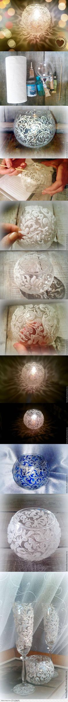 DIY Frosty Pattern Vase DIY Projects   UsefulDIY.com na Stylowi.pl