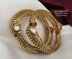 Gold Bangles, Bangle Bracelets, Gold Jewelry, Jewelery, Diamond Bangle, Bracelet Designs, Jewelry Design, Fashion Jewelry, Brass