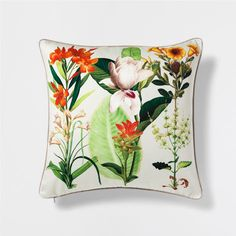 FLORAL PRINT LINEN CUSHION - Decorative Pillows - Bedroom | Zara Home United States