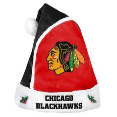84820326c Chicago Blackhawks 2015 Christmas Santa Hat - Detroit Game Gear