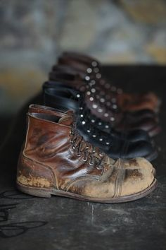 boots | weathered and worn