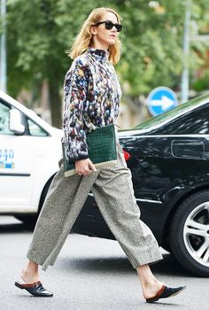 The+Street+Style+Guide+to+Dressing+Up+Your+Flats+via+@WhoWhatWear