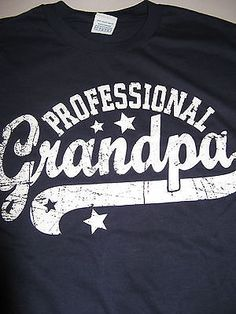 NEW Mens Fathers Day T Shirt Professional Grandpa Granddad Navy Blue  Baseball L Diy Father s Day 79405b9deae07