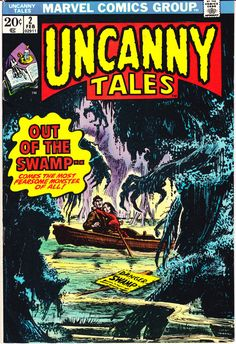 Uncanny Tales 2 Marvel Comics by LifeofComics Monsters from the Swamp Tales of Horror Fear Terror Scary Creepy Nightmare 1974 VF (8.0) #comicbooks