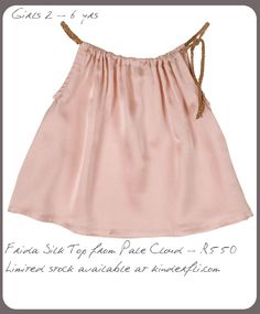silk top for mia Little Fashion, Kids Fashion, Womens Fashion, Kids Outfits Girls, Girl Outfits, Cute Onesies, Pink Silk, Pale Pink, Fabulous Dresses