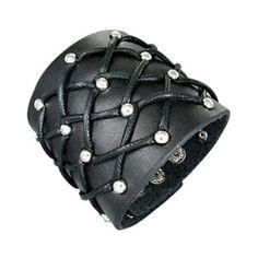 Bracelet cuir à cordes croisées