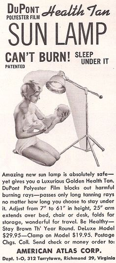 Vintage Advertisement or 'how to give your baby skin cancer'.