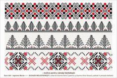Semne Cusute: romanian traditional motifs - MOLDOVA, Bacau, sat:...