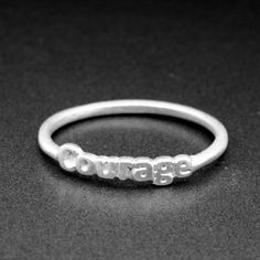 Sterling Silver Courage Ring  Stacking Ring  by CraigDabler