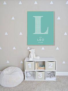 Personalized kids decoration, Nursery digital art prints - alphabets illustration - gift for kids - gift for newborn - children room - baby