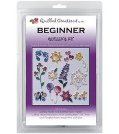 The Beginner kit comes with everything youll need to learn the art of quilling. It includes popular and essential items such as the Circle template board, fine-tip tweezer, needle  and  slotted quilli