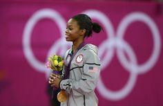 Gabby Douglas - Three-peat! Golden Girls Carly, Nastia, And Gabby - Gymnastics   NBC Olympics