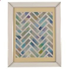 Abstract wall art in an antiqued mirrored frame. Product: Wall artConstruction Material: Mirrored glassColor: Antiqued mirrored frameDimensions: 28 H x 23 W x 3 D