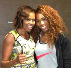 First Lady Michelle Obama and Serena Williams