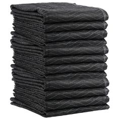"12 Pack 72"" x 80"" Performance Moving Blankets Protect your items with moving blankets. Features double stitched binding and polyester/WP non-woven fabric, with resilient fiber batting filler. 54 pound strength.  ** Color may vary contact us for details"