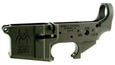 Spike's Tactical Lower Receiver (stripped) ST15 Spider with Bullet Markings #AR15