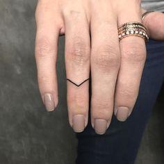 STYLECASTER   Cool Tattoos   Minimalist Finger Tattoo