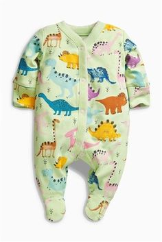 Buy Bright Dinosaur Sleepsuits Three Pack (0mths-2yrs) from the Next UK  online eec248d94ba56