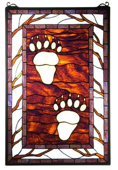 OH MY....gonna try this most definitely.......Bear Tracks Stained Glass Window