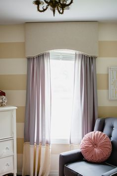 Window treatment idea for office.