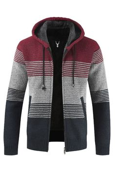 Hooded Cardigan, Sweater Jacket, Men Sweater, Hooded Jacket, Mens Clothing Sale, Matching Sweaters, Mens Jumpers, Fall Jackets, Tejidos