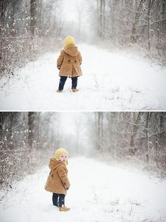 Winter photos are often overlooked but yield stunning results - especially fun if it's your toddler's first experience with snow! Snow Photography, Toddler Photography, Christmas Photography, Family Photography, Photography Ideas, Indoor Photography, Photography Lighting, Winter Family Pictures, Winter Photos