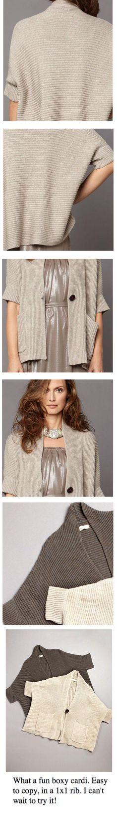 boxy knit cardigan from LABEL+thread from vau.lt