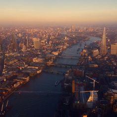 #London at #sunset. #river #instalike #instafollow #instalondon #londonpics #city #police