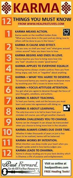 """KARMA This is very true. Many use this word in a condescending manner. It really is not presented in the way it was intended. It's intention is with """"Love""""."""