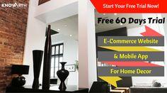 #ECommerceWebsite U0026 #MobileApp For #HomeDécor Try Commercium U2014 Free For 60  Days U2014