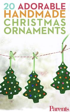 Christmas Ornaments for Kids to Make These 17 homemade Christmas will keep your little elves busy for hours. And did we mention they make great Christmas gifts? Cheap Christmas Trees, Cheap Christmas Crafts, Preschool Christmas, Homemade Christmas Gifts, Christmas Activities, Diy Christmas Ornaments, Christmas Projects, Handmade Christmas, Holiday Crafts