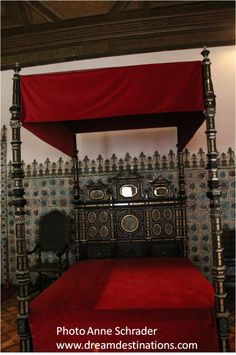Bed chamber of King Sebastian, 16th century,Sintra National Palace, Sintra Portugal