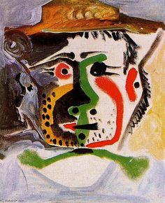 Pablo Picasso >> desenho >> Cabeça de um homem 16