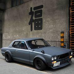 福 is japanese meaning HAPPY ☺ JDM masterpiece 1971 Nissan Skyline HAKOSUKA racing I would like to thank everyone who has reposted my…
